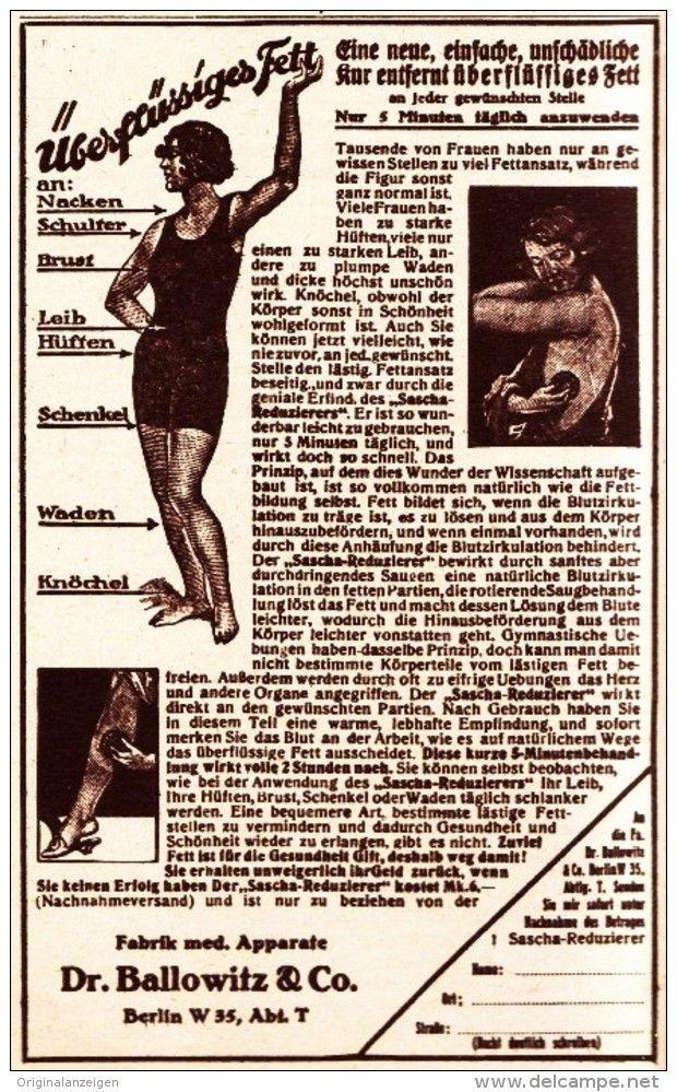 Original-Werbung/ Anzeige 1926 - FITNESS - GERÄT / SASCHA-REDUZIERER / DR…