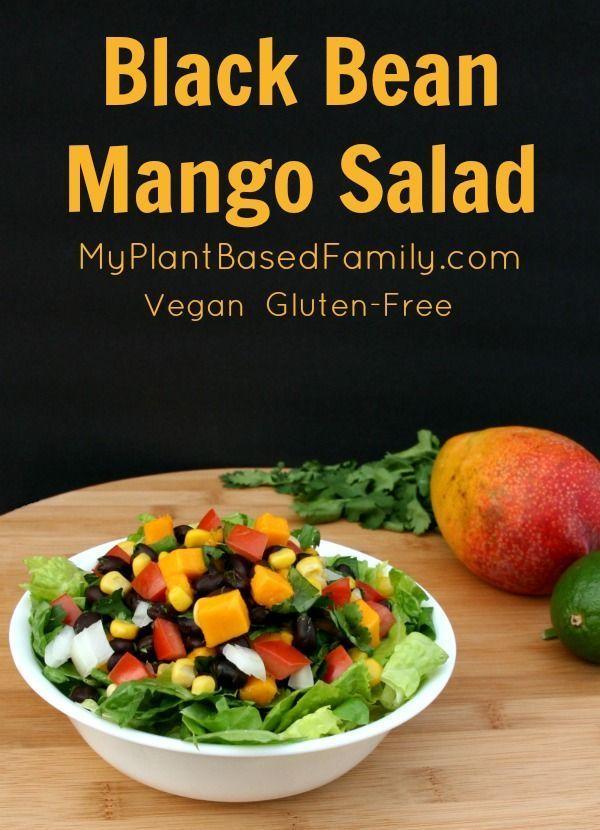 Black Bean Mango Salad My Plant Based Familys Favorite