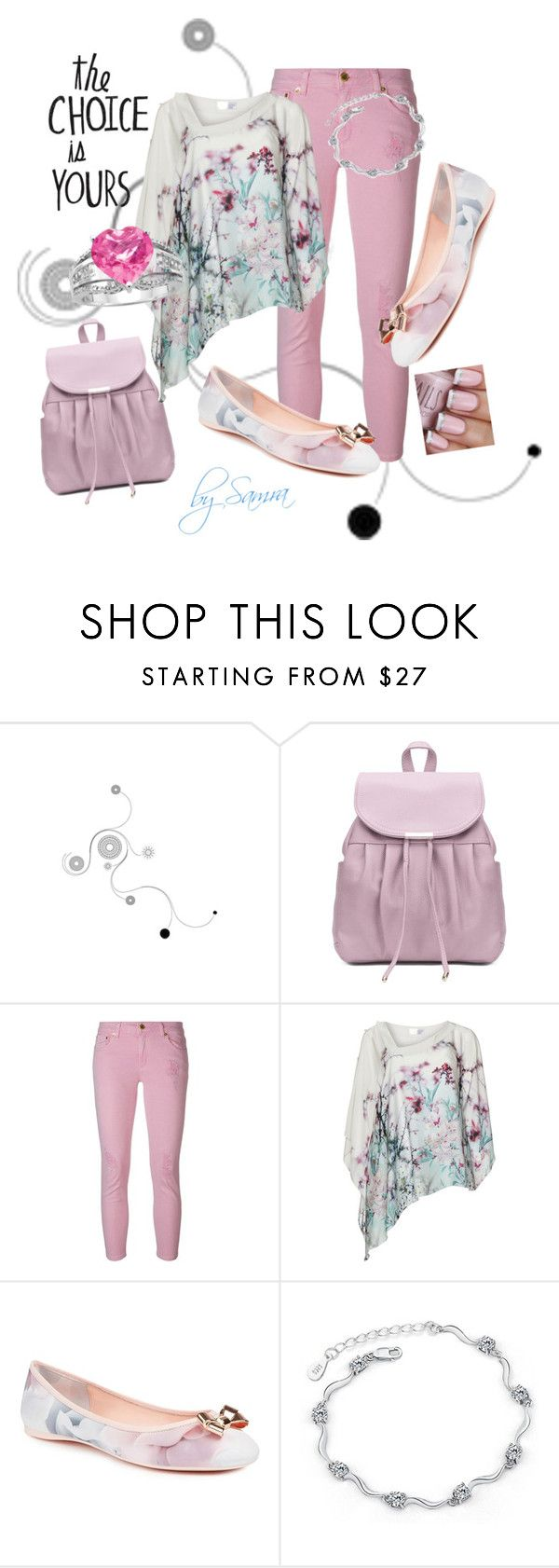 """""""Casual pink"""" by samra-dzabija ❤ liked on Polyvore featuring MICHAEL Michael Kors and Ted Baker"""