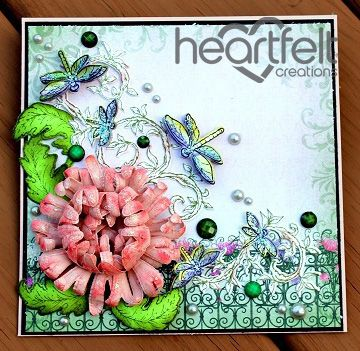 Heartfelt Creations | Pink Enchanted Mum With Dragonflies