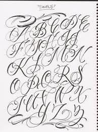 Alfabet Hoofdletters Chicano Letter Scrittura Di Graffitti