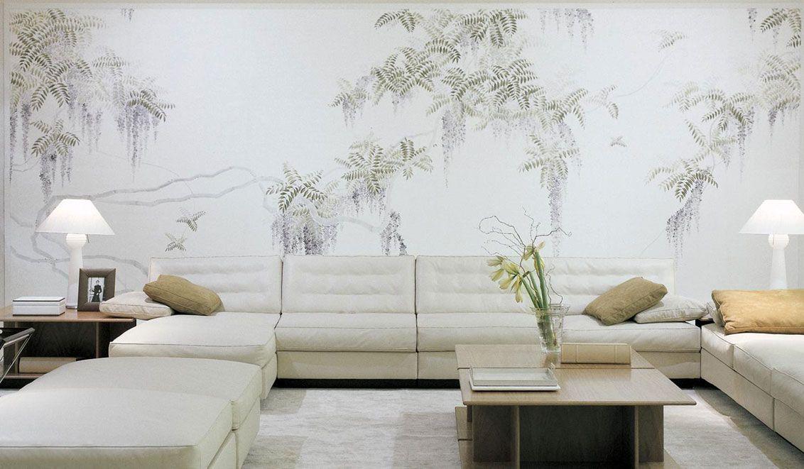 17 Wandgestaltung ausgefallene tapeten wohnzimmer