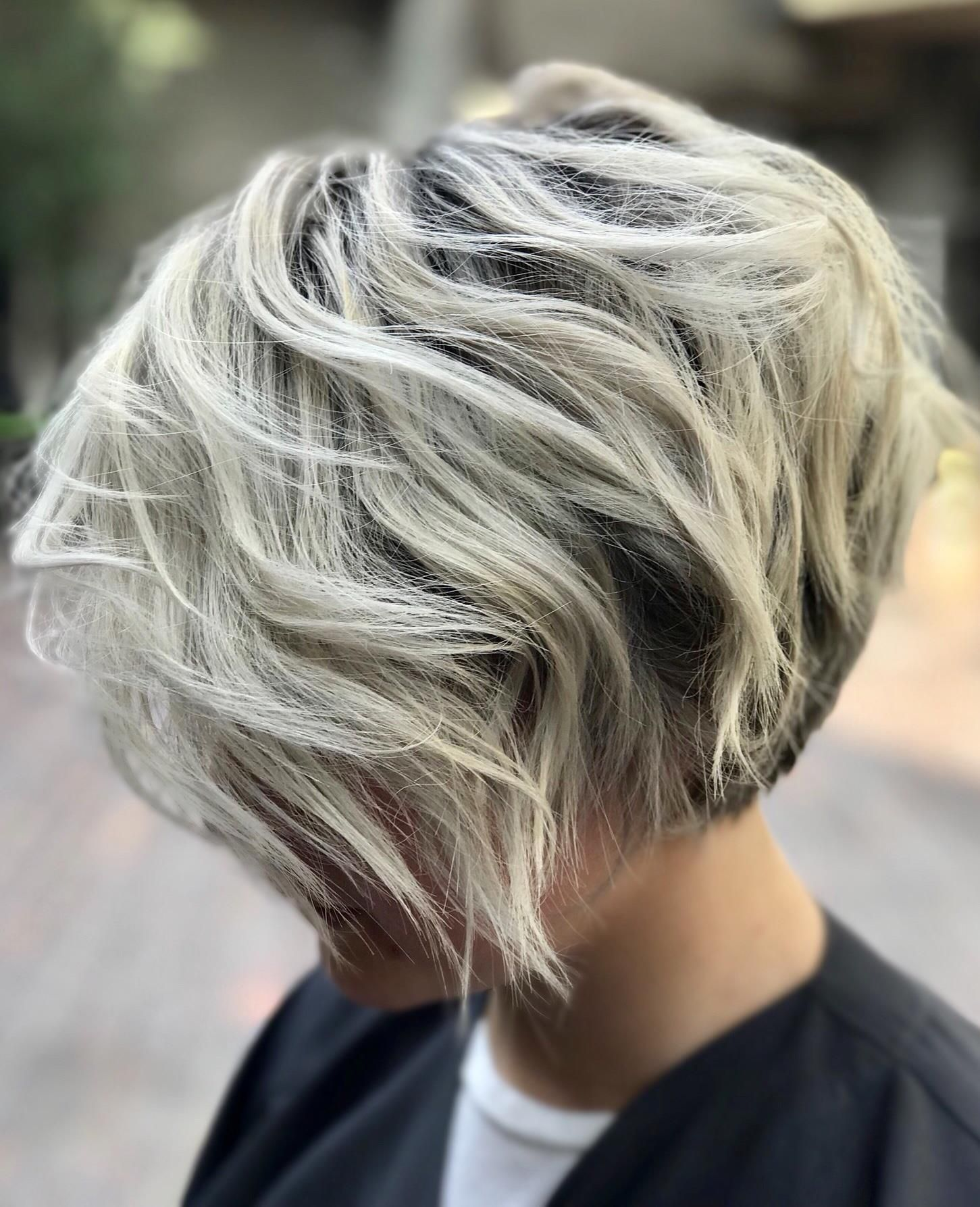 Color Full Highlight Haircut And Flatcurling Iron 180 Silver