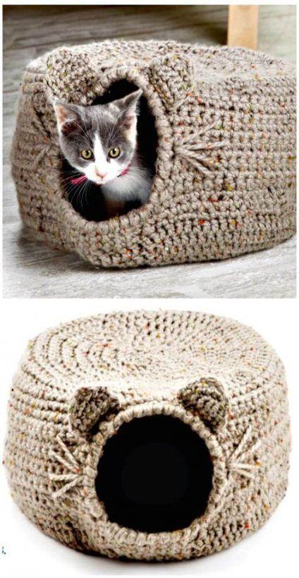 Crochet Projects For Dogs Pet Beds 26+ Ideas #dogs #crochet