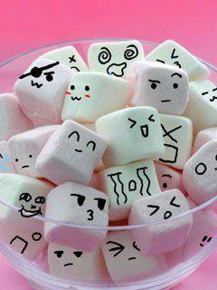 marshmallows with faces Marshmallow, Cute marshmallows