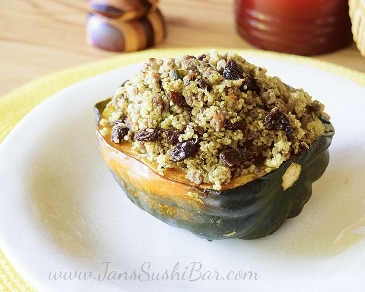 Liven Up That Ordinary Roasted Acorn Squash With Lamb Quinoa And