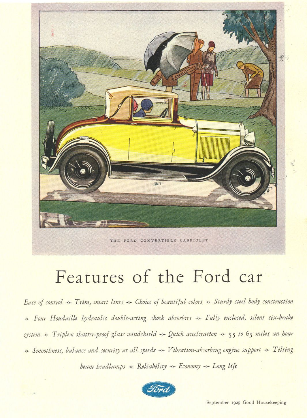 1929 Ford Ad-04 | automobiles-illustration | Pinterest | Ford