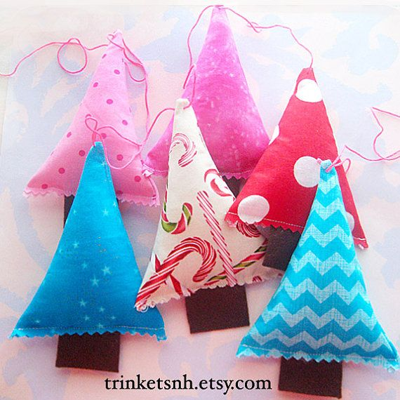 Hey, I found this really awesome Etsy listing at https://www.etsy.com/listing/168320707/christmas-tree-fabric-garland-bunting