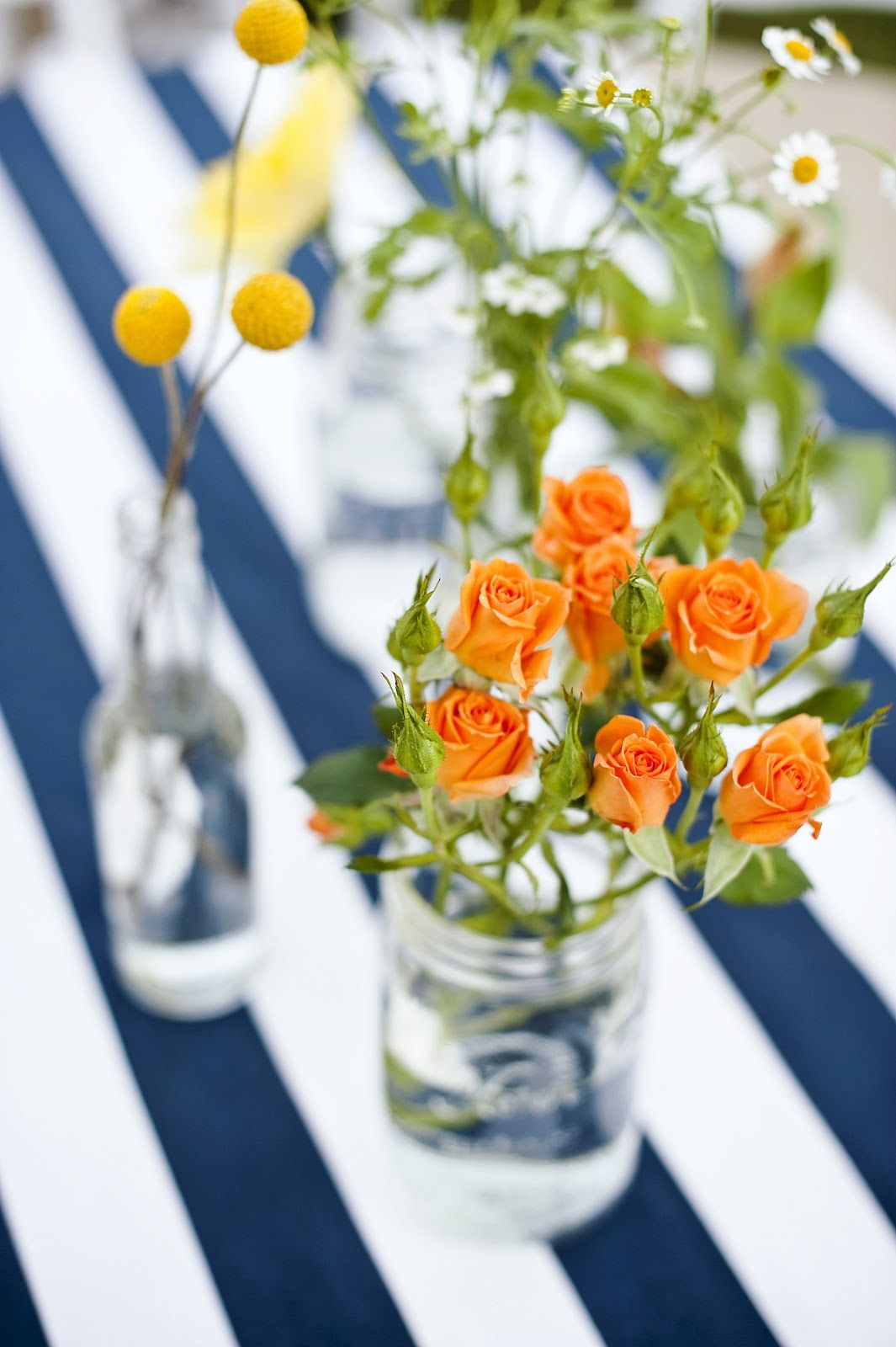 blooms and blossoms navy stripes backyard reception real