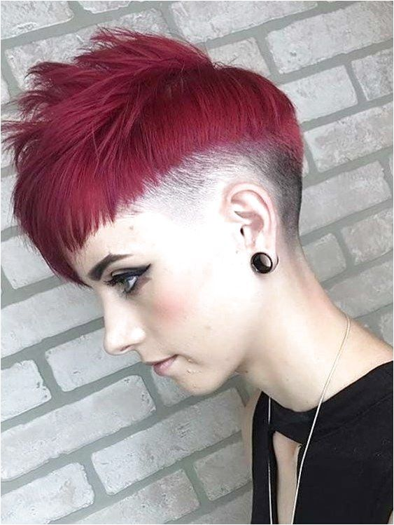 Discover the modern styles of undercut short red pixie