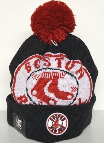 41da5affc Boston Red Sox New Era MLB Woven Biggie Cuffed Knit Hat by New Era ...