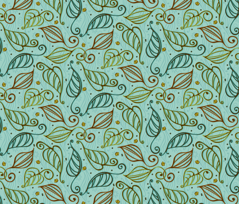 Fall clean up fabric by kari_d on Spoonflower - custom fabric