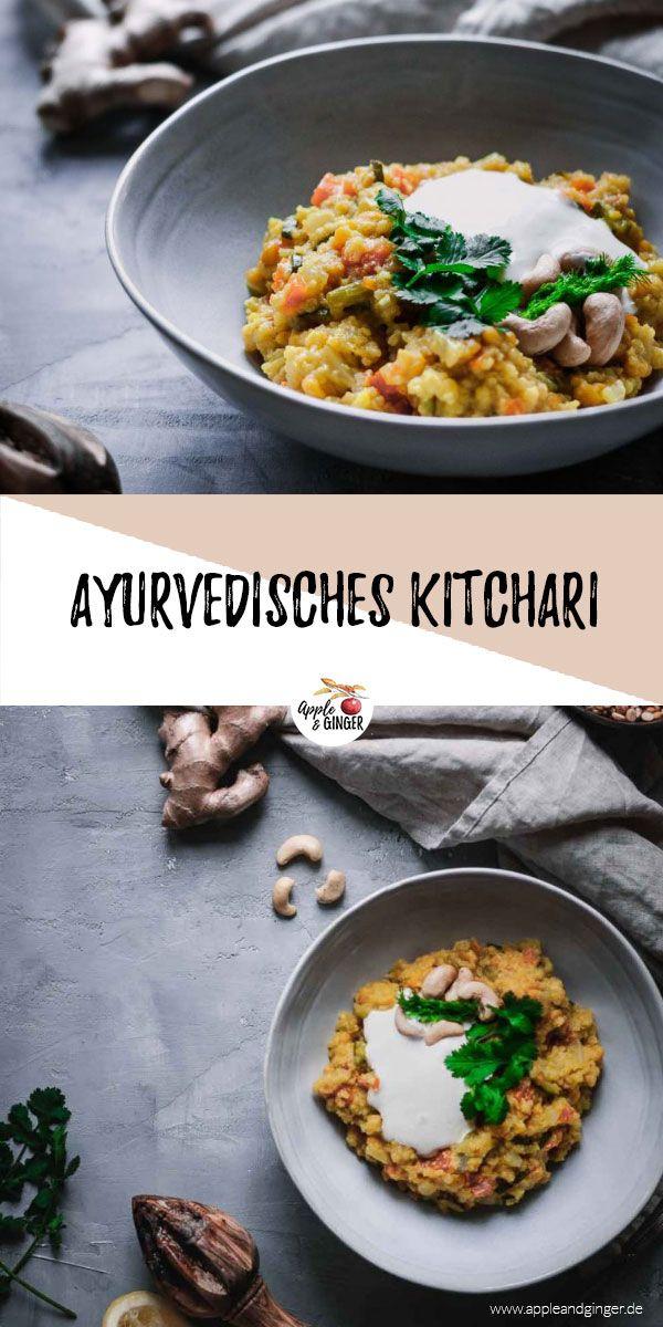 Ein leckeres ayurvedisches Kitchari ist jetzt im Winter super lecker und hilft dir, den Winter gesund und fit zu überstehen!   #ayurveda #kitchari #khichari #ayurvedarezept #gesundkochen #kochen #vegetarisch #basmatireis #mungbohnen #mungdal #indischkochen #indischesrezept #soupedetoxminceur
