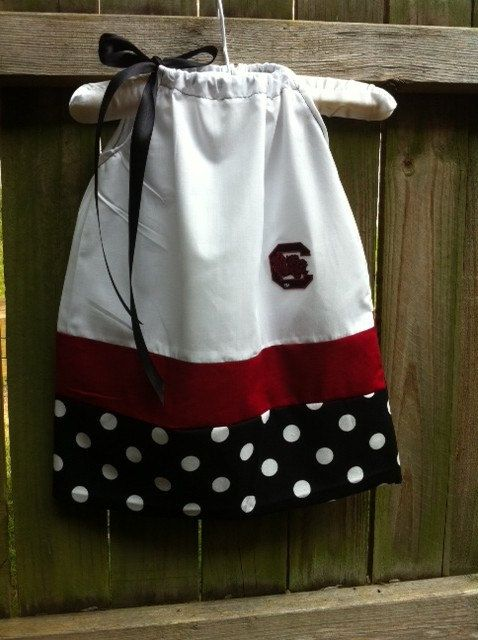 @Savannah Davis this would be adorable on Ten!!!! Gamecock Dress by babylew on Etsy, $24.99