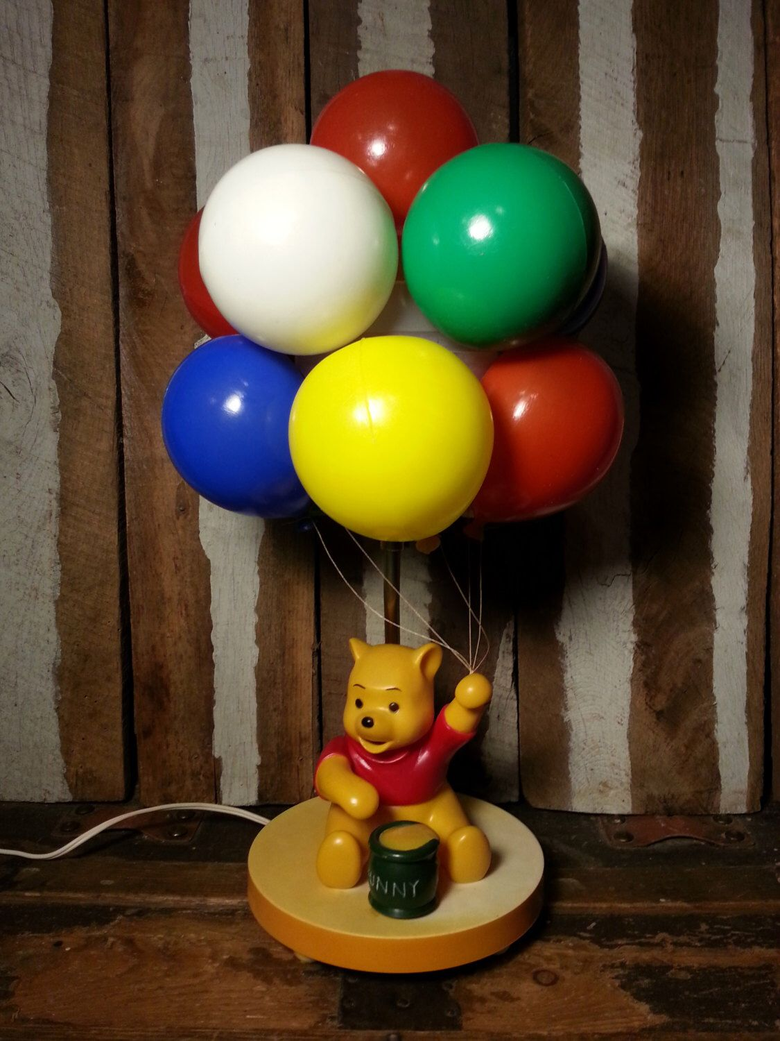 Vintage Sears Winnie The Pooh Balloon Baby Nursery Lamp Kids Room ...
