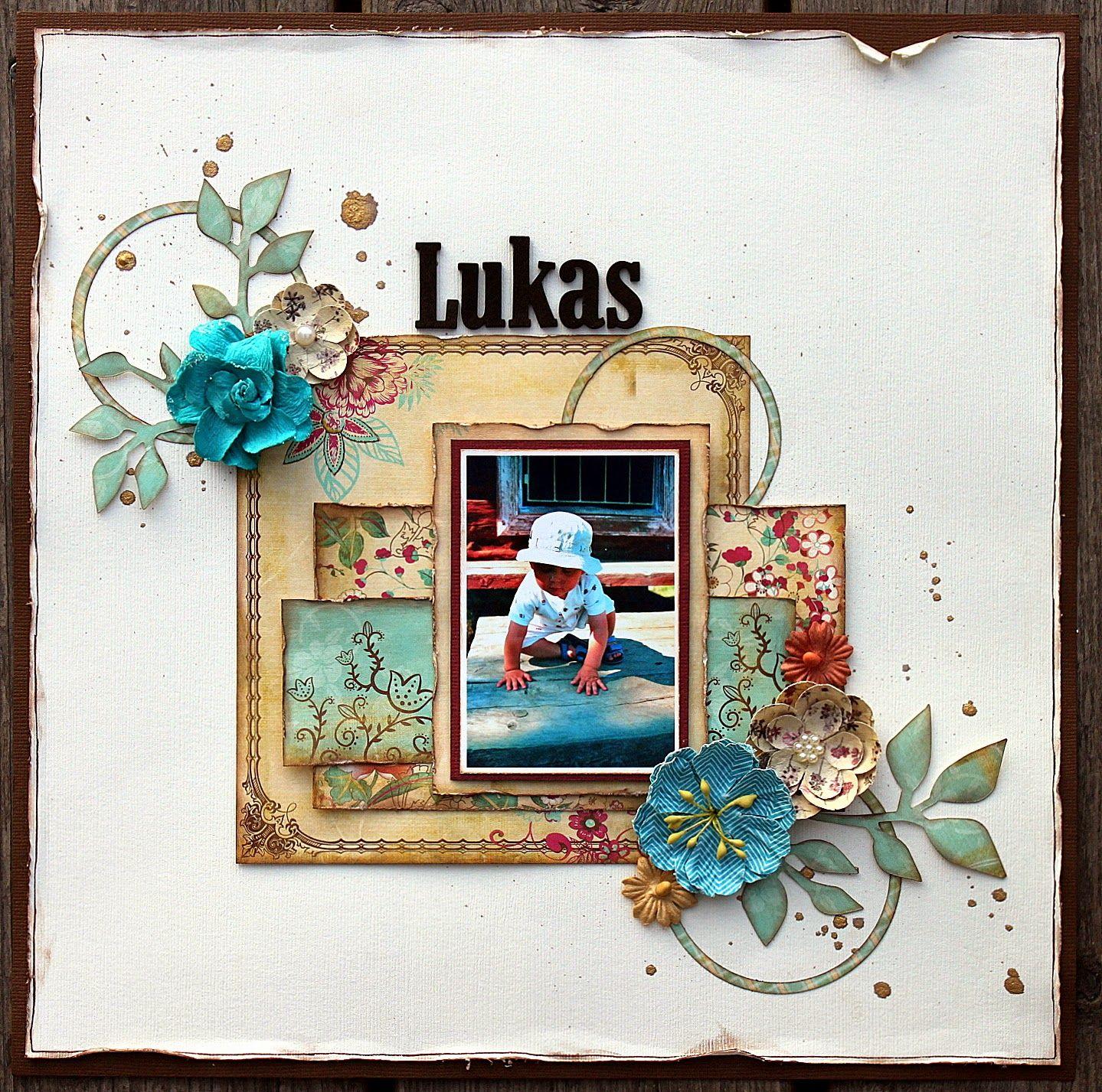 Ett Kort Och En Layout Med Samma Design A Card And A Layout With