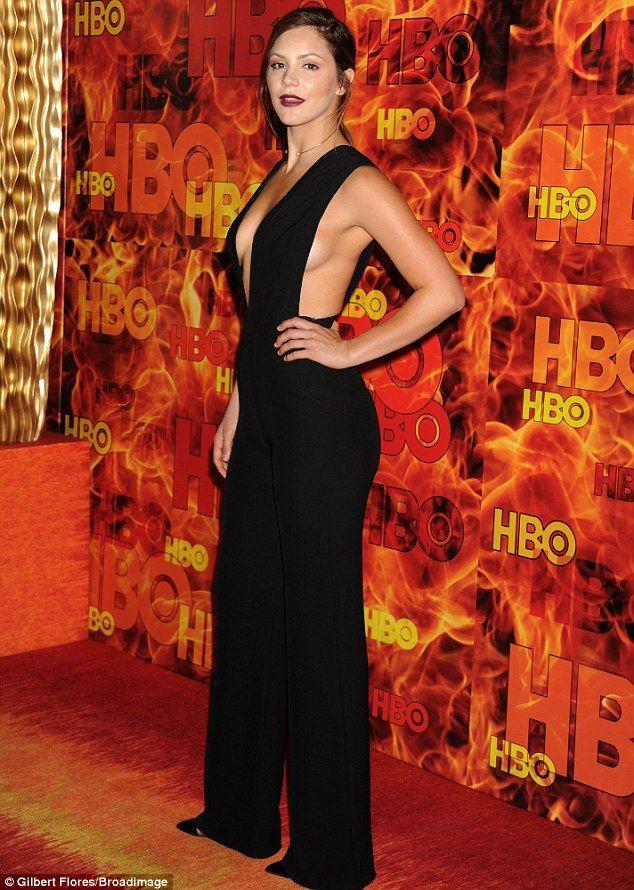 Katharine McPhee goes braless under black jumpsuit at HBO ...