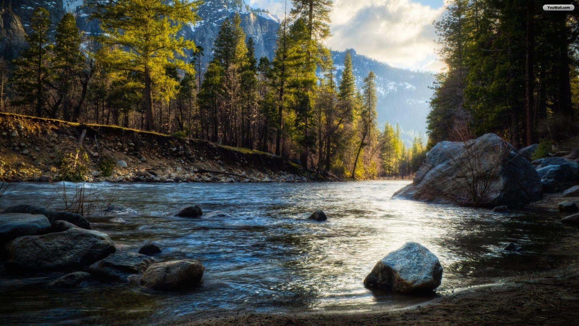 River Wallpaper Desktop 49 Images Beautiful Places Nature Beautiful Nature Landscape