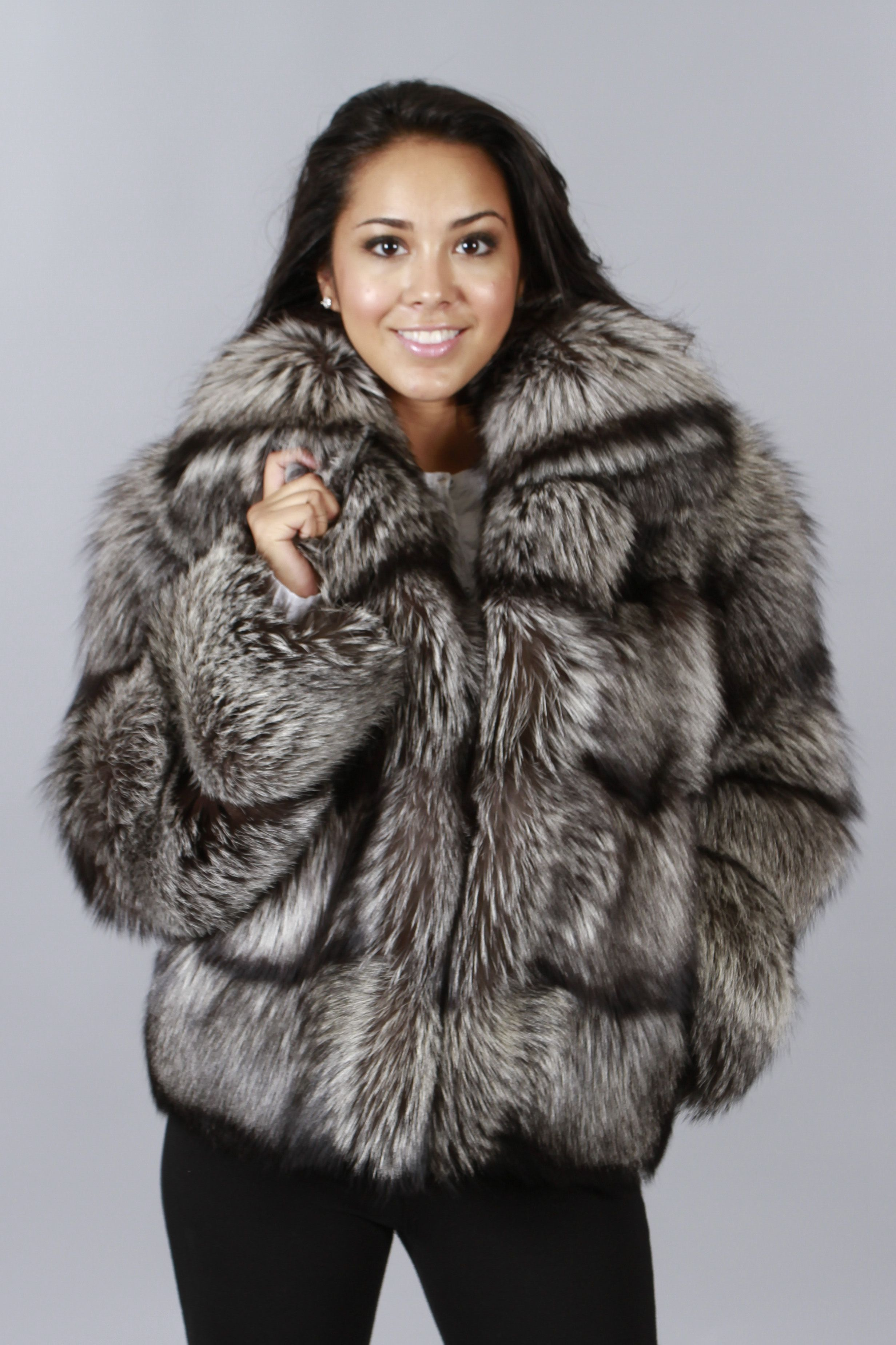 Shop Furs :: Jackets :: Fox Fur and Leather Jacket - Fur coats ...
