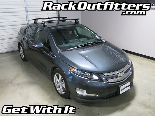 Chevrolet Volt Rhino Rack 2500 Vortex Aero Black Base Roof Rack 12 14 Chevrolet Volt Roof Rack Chevy Volt