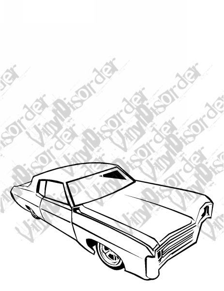 69 Impala Lowrider Decal