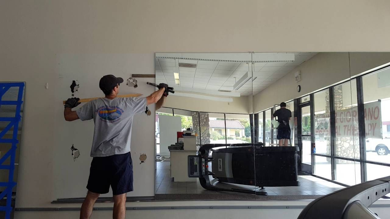 How To Remove Glued Mirrors From A Wall Home Gym Mirrors Mirror