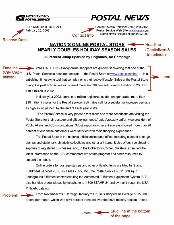 NEWS RELEASES http\/\/mywebstedwardsedu\/corinnew\/writing\/04-23 - press release template sample