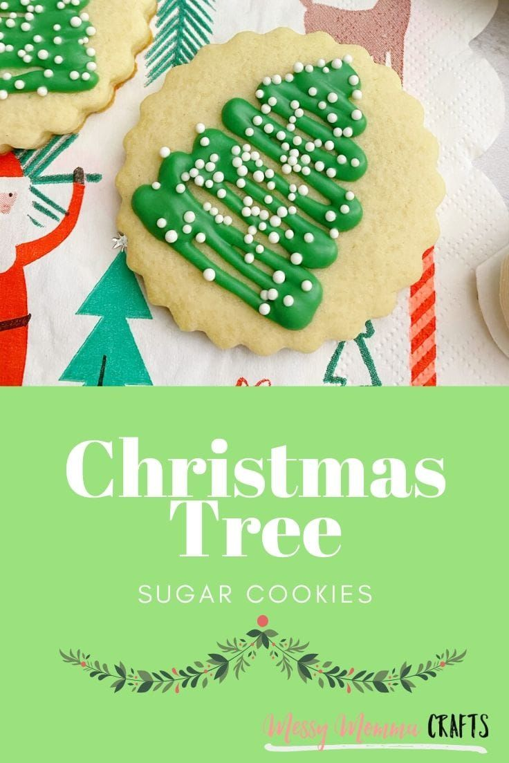 Create this Christmas Tree Cut Out Sugar Cookies recipe using a favorite no spread easy sugar cookie dough for decorating, a few ingredients and a little Christmas cheer. #cutoutsugarcookies #norollsugarcookies #kenarry #ideasforthehome