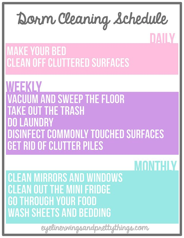 The Ultimate Guide To Cleaning Your Dorm Room   FREE Dorm Cleaning  Printable // Eyeliner Wings And Pretty Things Part 31