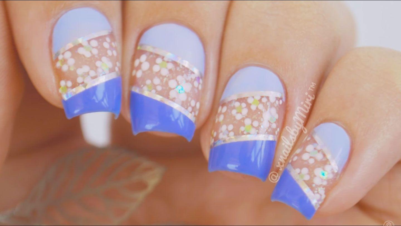 Negativo de flores un facil Diseño Nail Art - http://xn ...