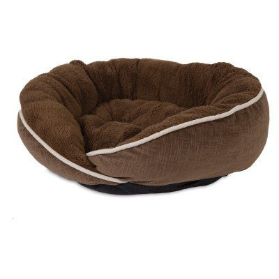Aspen Pet Luxe Wrap Lounger Dog Bed Brown - 80695