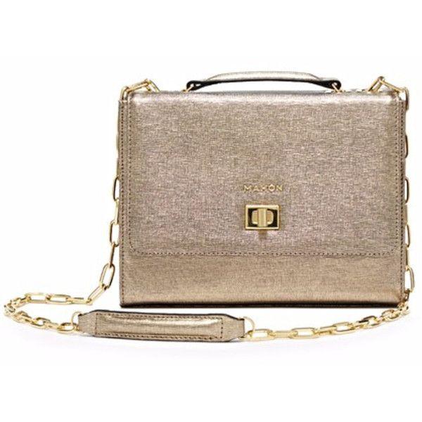 0d21c0f81c8 Mahon Joyero Gold Satchel (€2.175) ❤ liked on Polyvore featuring bags