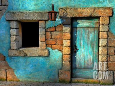 The Blue Door Photographic Print Philippe Sainte Laudy Art Com Blue Wall Art Blue Door Beautiful Doors