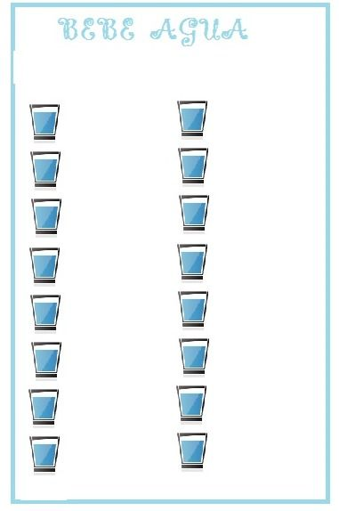 para anotar el agua que bebo