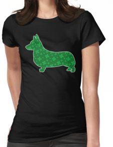 Shamrock Corgi Camiseta entallada para mujer