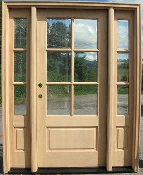 Lite Craftsman Style Entry Door With 3 Lite Sidelights Main Door Without The Glass Entry Door With Sidelights Entry Doors Front Entry Doors