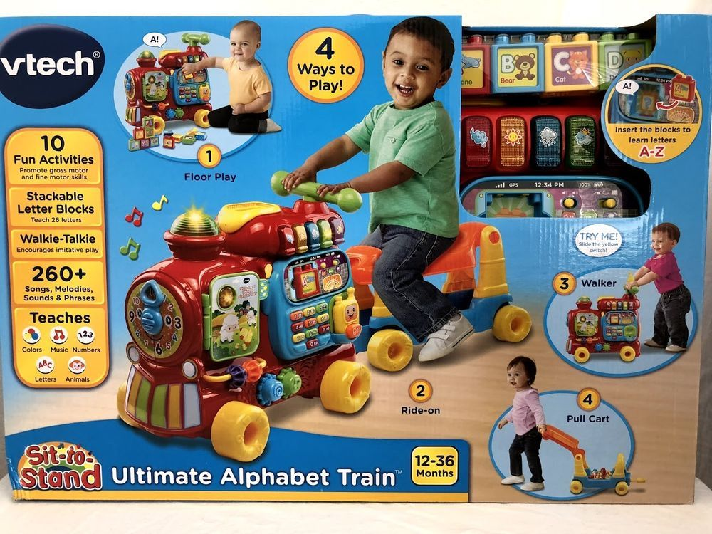 Vtech Sit To Stand Ultimate Alphabet Train Blue Online Exclusive