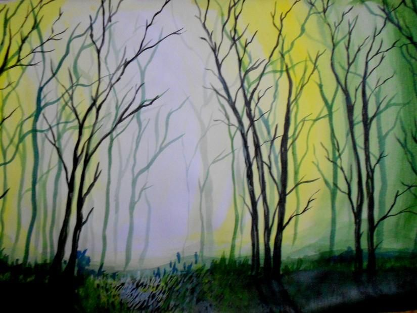 Mist.., - Creative Art in Painting by Atheela Kamarudheen in Portfolio PAINTINGS.... at Touchtalent