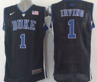 86a47d5f798d Duke Blue Devils  1 Kyrie Irving Black Basketball Stitched NCAA Jersey