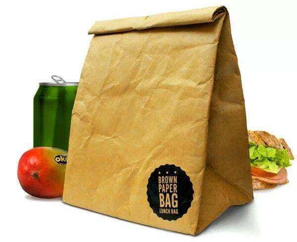 Tyvek brown paper bag