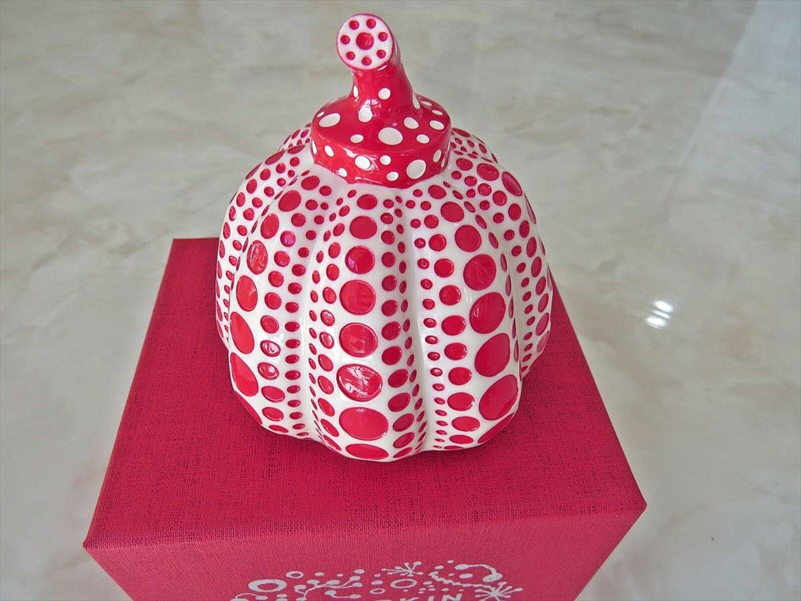 Yayoi Kusama Pumpkin Lammfromm Artist Paperweight Object Sculpture Red
