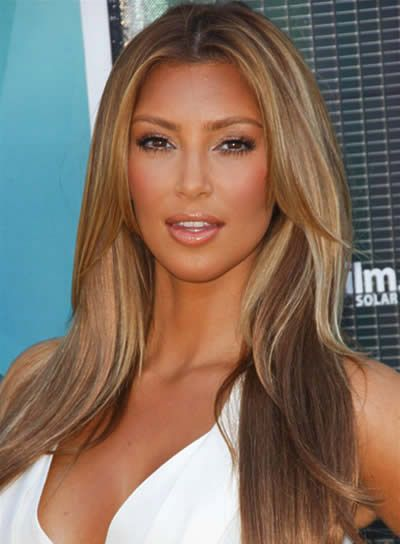 i hate kim kardashian but i want this color hair and style