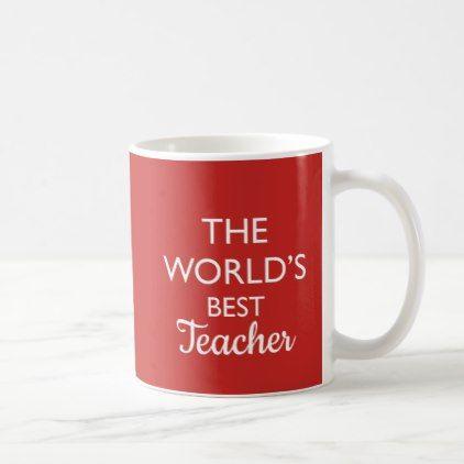 The World S Best Teacher Editable Mug Zazzle Com Best