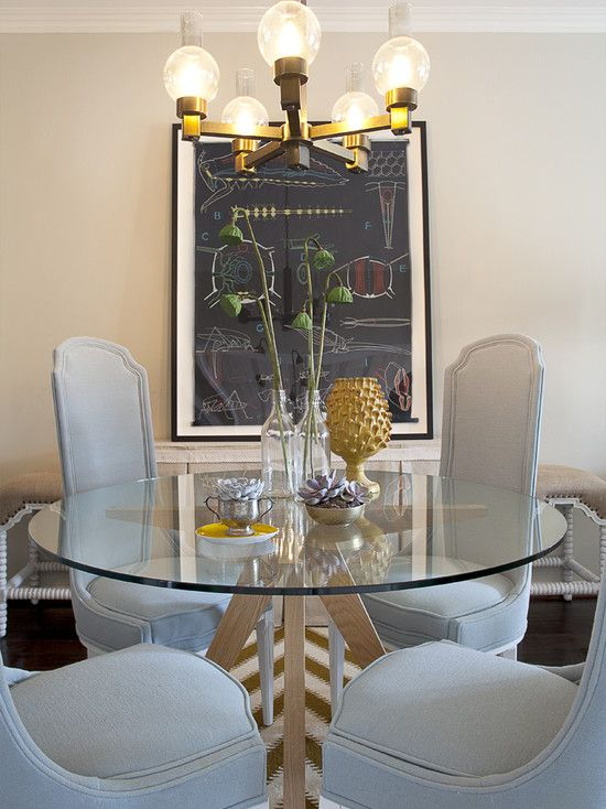 Modern Round Glass Dining Table Design Pictures Remodel Decor