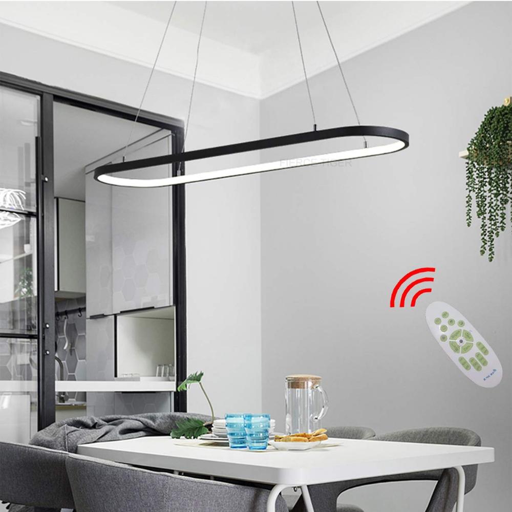 LED Kronleuchter Oval Esstisch Büro Hängelampe Chic Designer