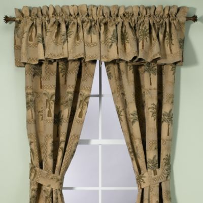 Palm Grove Valance Living Room Drapes Panel Curtains Curtains