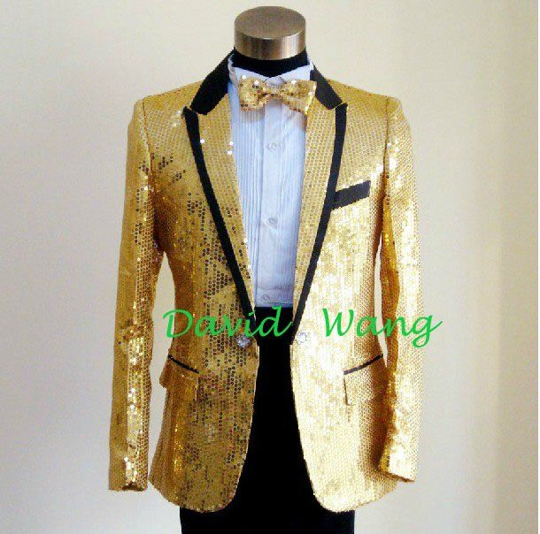 Channeling Little Richard with the GOLD blazer, yess honey.   Blue ...