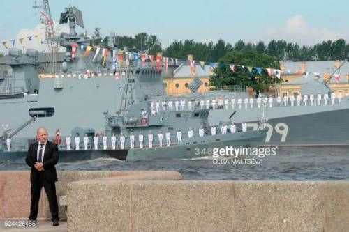 12 05 Russian Sailors Stand On The Deck Of Small Missile Ship Serpukhov 12 05 Russian Sailors Stand On The Deck Of Small Serpuk Navy Day Deck Petersburg