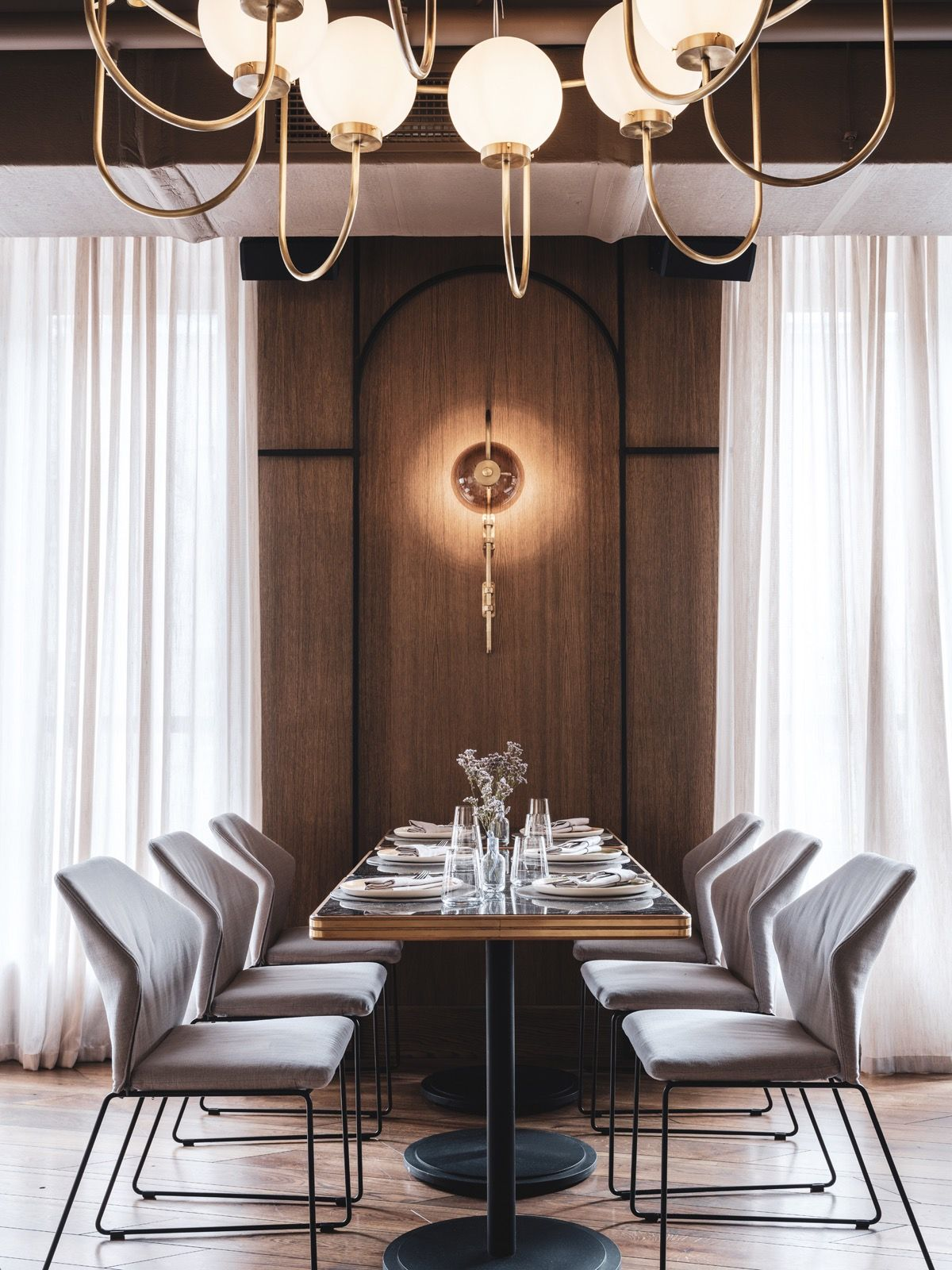 Asthetique Creates Dreamy Design Concept For The Y Restaurant In Moscow Private Dining Room Interior Design