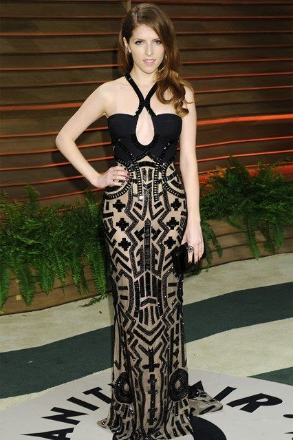 Vanity Fair after-party – March 2 2014  Anna Kendrick in Atelier Versace. Photo By Rex Features